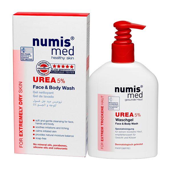 Моющее средство для лица и тела с 5 % мочевиной, 200 мл купить Numis Med с доставкой Numis Med c заказать по России и регионам
